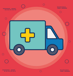 Ambulance vehicle ico vector