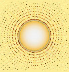 circles halftone frame abstract background vector image