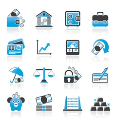 Finance and bank icons vector