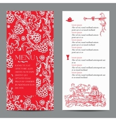 Restaurant menu design with vintage label vector