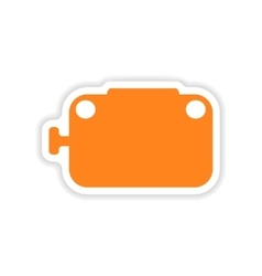 Icon sticker realistic design on paper toaster vector
