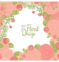 Floral frame and place for text vector