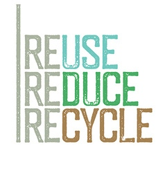 Reuse reduce recycle stamp grunge letters vector