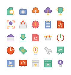Seo and marketing icons 4 vector