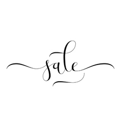 Sale hand lettering vector