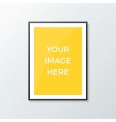 A4 poster mockup vector