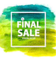 Abstract brush stroke designs final sale banner vector