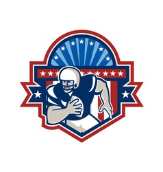 American football qb quarterback crest vector