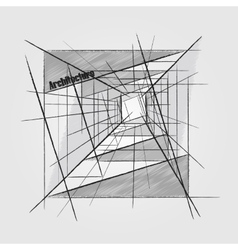 Architecture abstract image vector image vector image