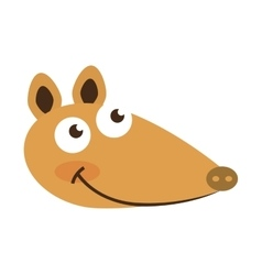 Armadillo cute character icon vector