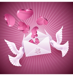 b2background on valentines day vector image vector image