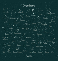 big set constellation vector image
