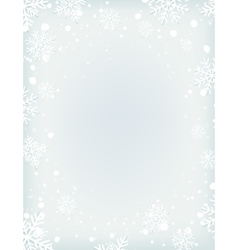 Blank winter background with snow and snowflakes vector image