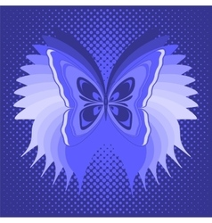 Blue butterfly poster vector