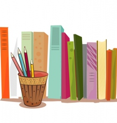 books illustration vector image