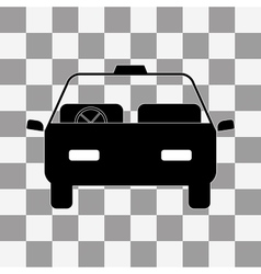 Car icon on a transparent vector image