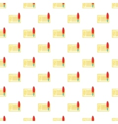 Checkbook pattern cartoon style vector
