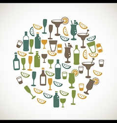 Colorful drinks icons vector image