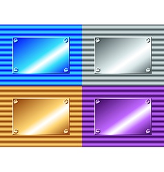 Corrugated metal plate vector