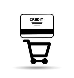 credit card design vector image vector image