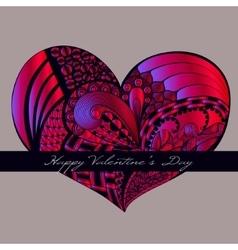 Crimson valentine heart vector