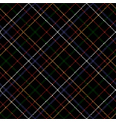 Dark checkered diagonal tartan seamless fabric vector
