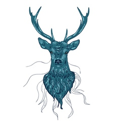 Deer head2 vector