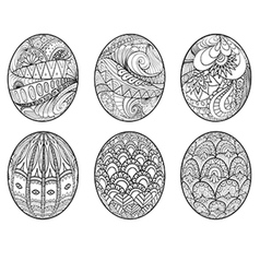 Easter eggs set 2 vector image vector image