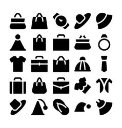 Fashion icons 1 vector