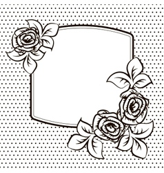 Frame temlate for a card vector image