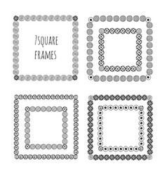 Hand drawn doodle frames decorative elements vector