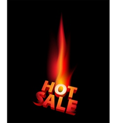hot sale anouncement with big flame vector image