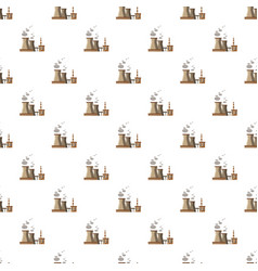 Industrial plant with pipes pattern vector