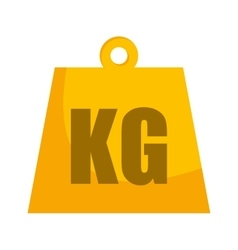 kg weight classic metal vector image