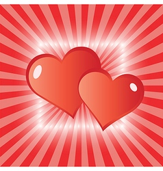 love hearts greeting card vector image vector image