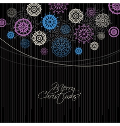 Modern Christmas background vector image