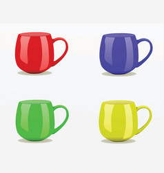 mugs vector image vector image