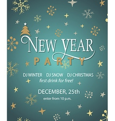 New Year Party background design template vector image vector image