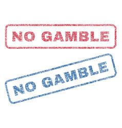 No gamble textile stamps vector