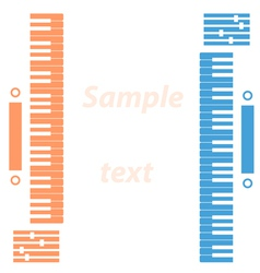 Piano keys on a white background vector