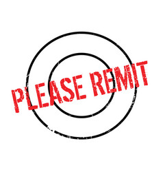 Please remit rubber stamp vector