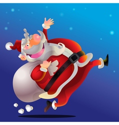 Santa claus running vector