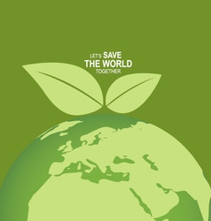Save the world poster design template vector image