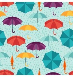 Seamless pattern with cute multicolor flat vector image vector image