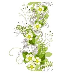 seamless vertical floral pastel pattern vector image vector image