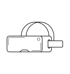 Virtual reality headset line art simple gadget vector