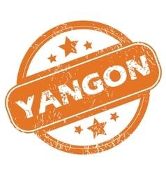 Yangon round stamp vector