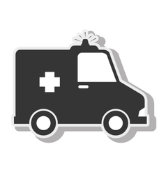 Ambulance emergency urgency siren design vector