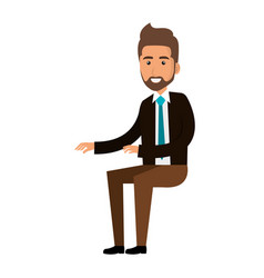 Businessman doing seated pose vector