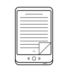 e-book line art simple gadget icon vector image